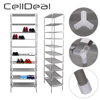 цена CellDeal Multi Layer Tiers Non-Woven Fabric Dustproof Shoe Rack Storage Organizer Shoe Cabinet Shelf Cabinet Shoe Organizer онлайн в 2017 году