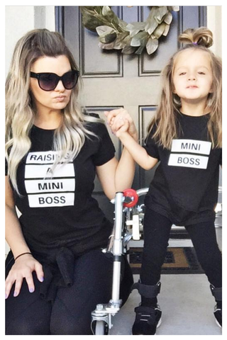 Matching T-Shirt Boss Family Daughter Son Mini Mommy Baby-Girl Boys And Me Dad Outfits