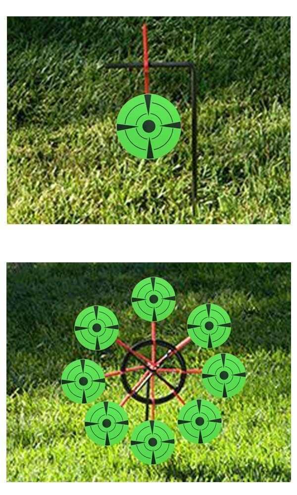 3 بوصة لكل لفة جولة الرماية ملصق الذاتي أهداف لاطلاق النار الأسلحة النارية أهداف لاصق ذات جودة عالية الأهداف