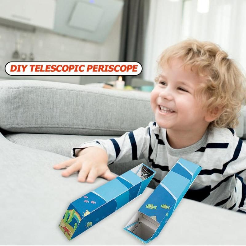 DIY Telescopic Periscope Handmade Physical Technology Science Experiment Toy Kit Small Production Children Learning Toys
