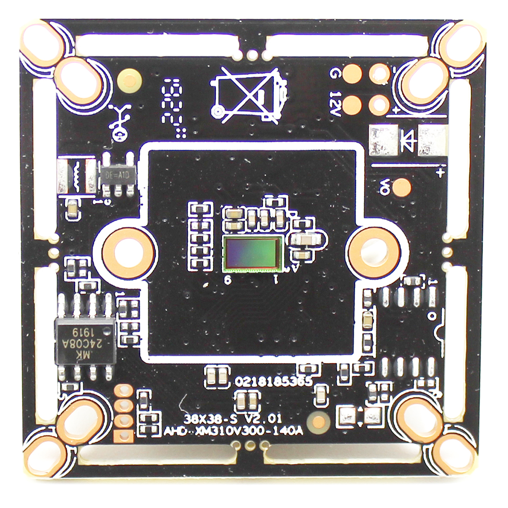 2500TVL Ultral Low Illumination 1/3'' AHD Camera Module 1080P AHDH Board Security Module Board