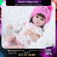 リボーンベビードール42センチメートルベビーリボーン人形のおもちゃ女の子同行人形リアルな幼児ブルー目ベベリボーン誕生日現在