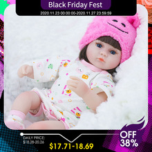 Bebê renascer boneca 42cm bebê reborn bonecas brinquedos para meninas acompanhar boneca lifelike criança olhos azuis bebe reborn presente de aniversário