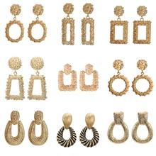 Корейские модные ювелирные изделия, массивные Геометрические Квадратные большие металлические серьги для женщин, аксессуары Oorbellen Brincos Aretes De Mujer