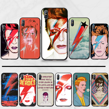 David Bowie Rock Zanger Fashion Tpu Zachte Siliconen Telefoon Case Cover Voor Iphone 5 5s 5c Se 6 6s 7 8 Plus X Xs Xr 11 pro Max(China)