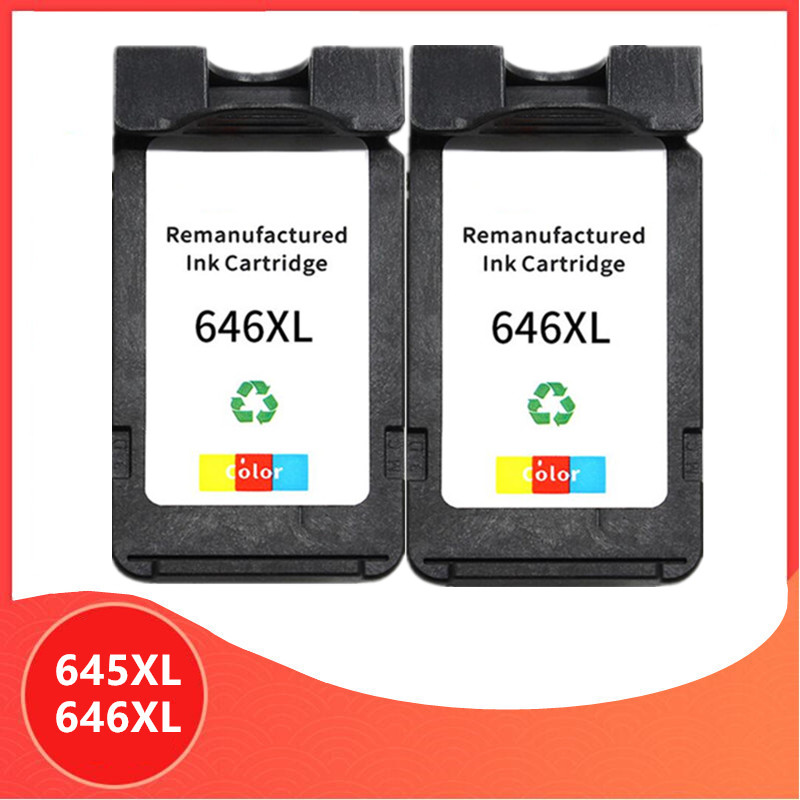 2Pack Color PG645 CL646 XL ink cartridge replacement for Canon PG-645 CL-646 PG 645 CL 646 Pixma MG2460 MG2560 MG2960 MG2965 image