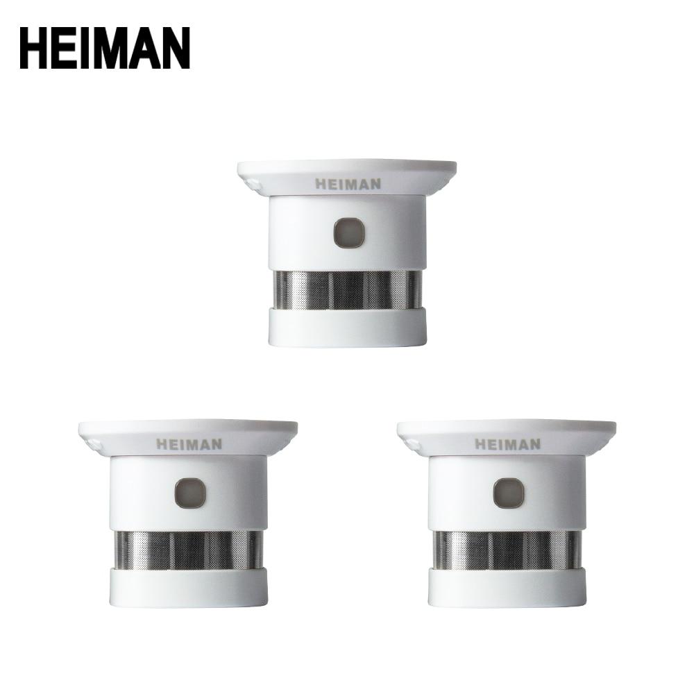 Heiman independente detector de fumaça alarme incêndio 3 pcs sistema casa inteligente alta sensibilidade segurança proteção sensor frete grátis