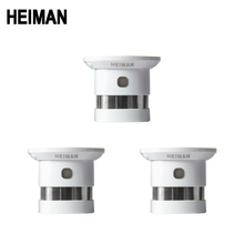 HEIMAN independent fire alarm smoke detector 3 pcs smart home system high sensitivity safety protection sensor free shipping