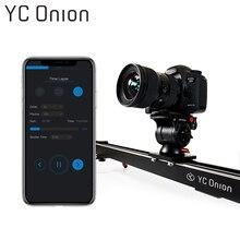 YC หัวหอมอลูมิเนียมกล้องถ่ายรูป APP ควบคุมบลูทูธ Stable Smooth Slider กล้องมอเตอร์สำหรับถ่ายภาพ DSLR