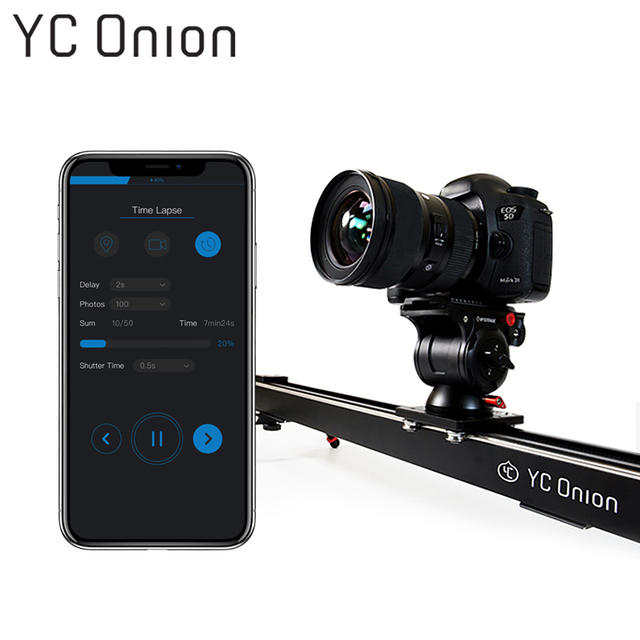 YC ONION Aluminum Motorized Camera Slider App Bluetooth Control Stable Smooth Slider Camera With Motor For Photography DSLR