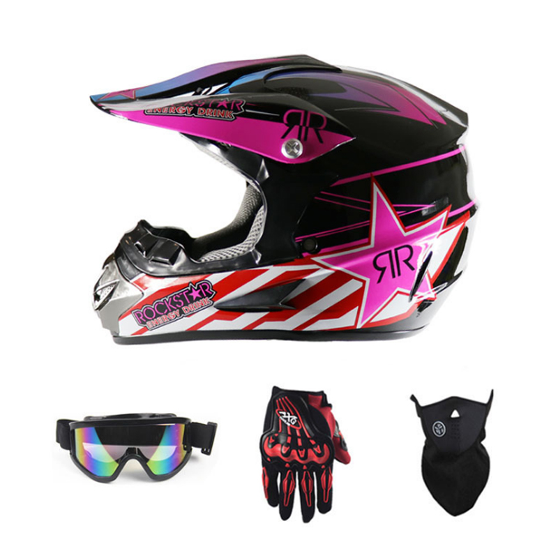 Adult Motorcycle Motocross Off Road Helmet ATV Dirt Bike Downhill MTB DH Racing Helmet Cross Helmet Capacetes With FREE Gifts