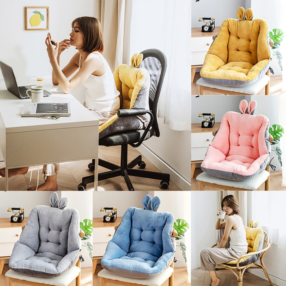 Seat Cushion Semi-Enclosed One Chair Cushions Desk Seat Cushion Warm Comfort  Pad (3)