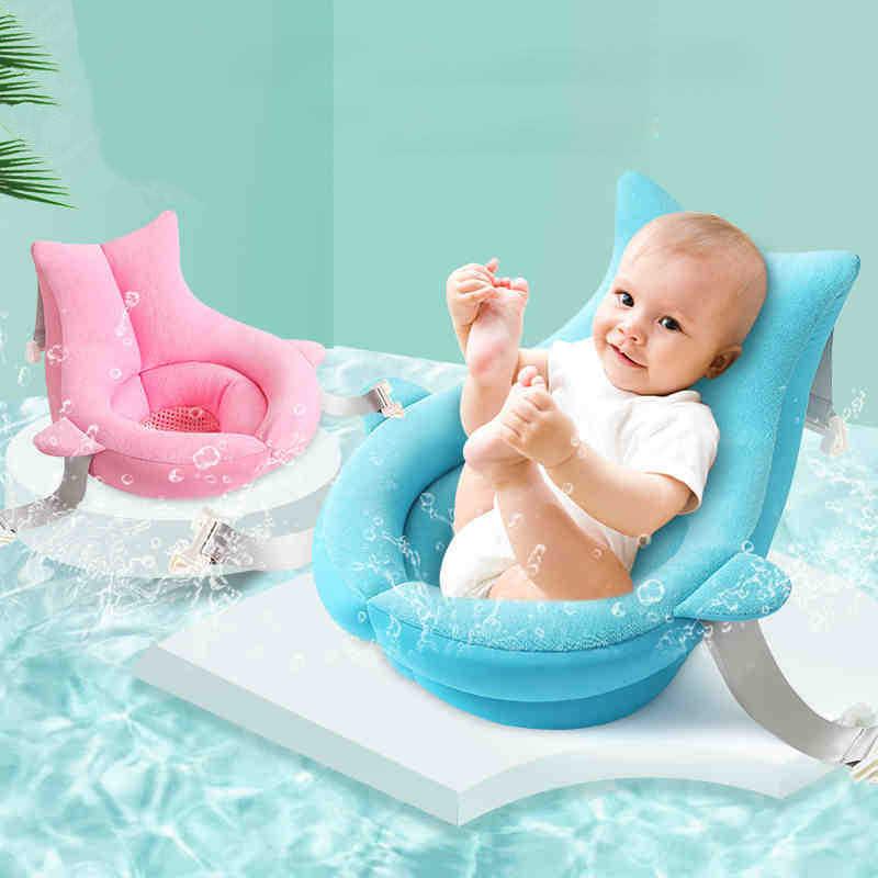 Karikatür bebek banyo oturağı destek Mat bebek duş taşınabilir hava yastığı yatak kaymaz banyo paspası yenidoğan güvenlik güvenlik banyo yastığı