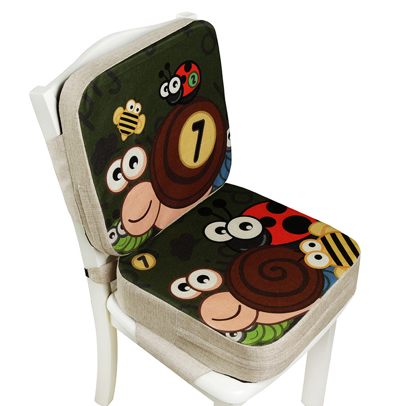 Children Increased Chair Pad Burliness Baby Kids Dining Cushion Adjustable Removable Chair Booster Cushion Pram Chair Seat Pad
