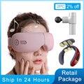 Bluetooth умный Вибрационный массажер для глаз прибор для ухода за глазами горячий сжатие очки инструмент Музыка Складная защита глаз