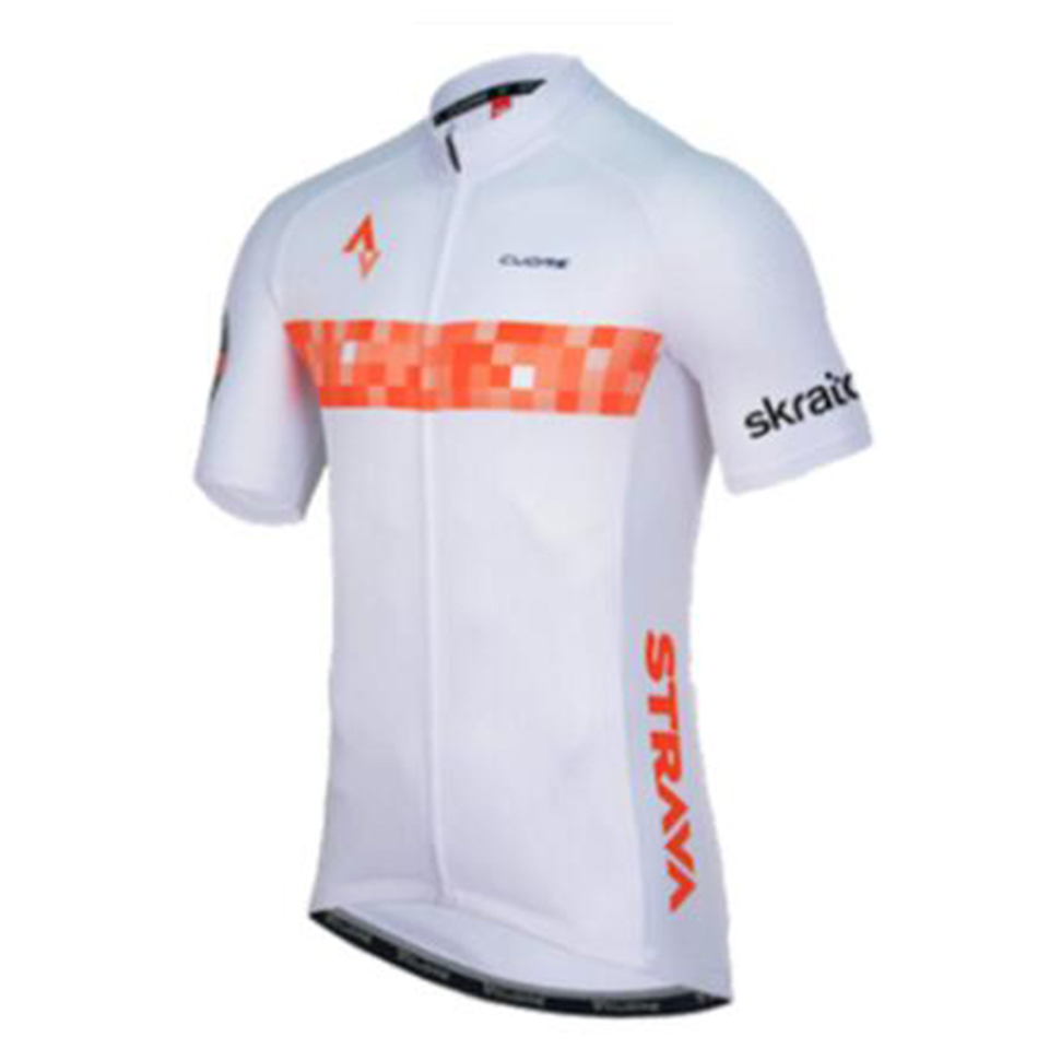 2019 <font><b>STRAVA</b></font> <font><b>Bike</b></font> Men Racing Cycling Jersey Tops <font><b>Bike</b></font> <font><b>Shirt</b></font> Short Sleeve Bicycle Clothes quick dry Cycling Clothing Ropa Ciclismo image