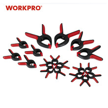 WORKPRO 18PC Woodworking Tools Heavy Duty Clamps Wood Jig Hard Plastic Spring Clamps for WoodWorking Photo Backdrop Background