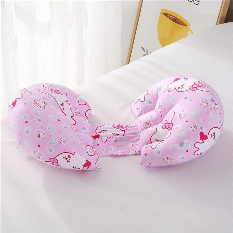 1 шт. ортопедическая поясничная подушка для бокового сна для беременных женщин специальная подушка для сна забота о материнстве Защита позвоночника поясная подушка - Цвет: rabbit