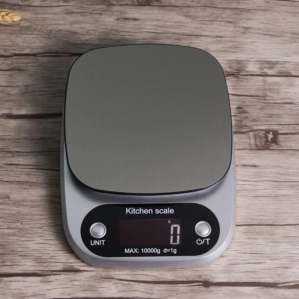 Цифровые весы с ЖК-дисплеем 10 кг/1 г, высокоточные кухонные весы для взвешивания продуктов, измерительный инструмент-2