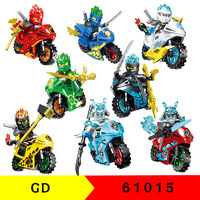 80 adet yeni ninjagoes motosiklet figürleri söndürme eğitim tuğla yapı taşları Diy oyuncaklar çocuklar için hediye 61015
