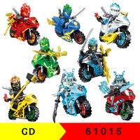Figuras de la motocicleta ninjagoes de 80 Uds., Ladrillos educativos de lucha, bloques de construcción, Juguetes Diy para niños, regalo 61015