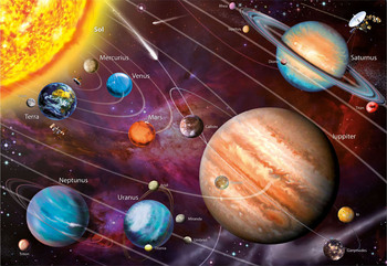 Educa Neon Solar System 1000 Pieces of Night Light Jigsaw Puzzle Renova Education Toy