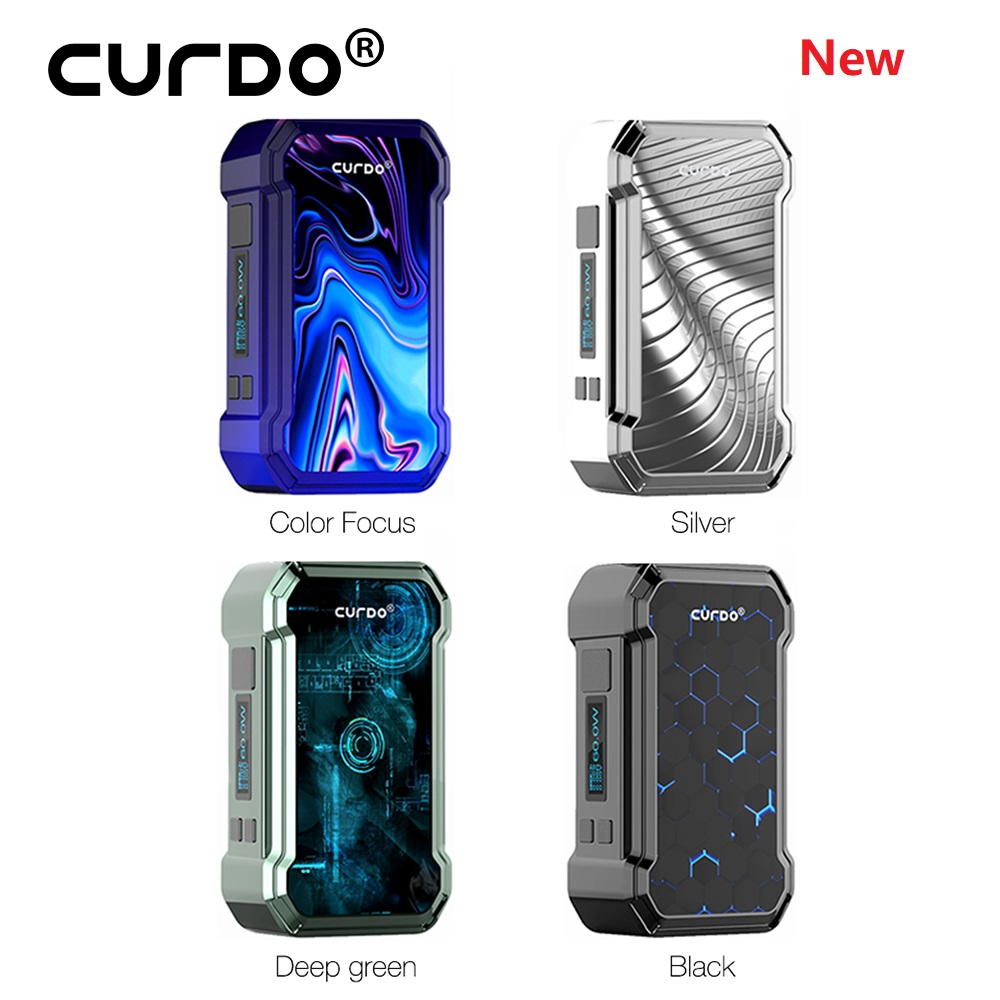 Newest Original Curdo Hally TC Box Mod Powered by single 18650 battery & with 0.96 inch display screen E-cig vape vs drag 2