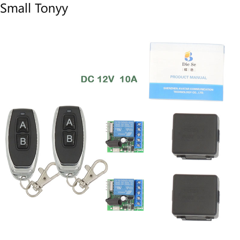 Universal Remote Control DC 12V <font><b>1CH</b></font> <font><b>rf</b></font> <font><b>433</b></font> Relay Receiver and Transmitter for door Controller\ Remote Light Switch\ DIY remotes image