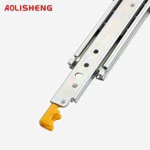 Image 5 - Locking Heavy Duty Drawer Slide Rail With 76mm Width Solid Ball Bearing