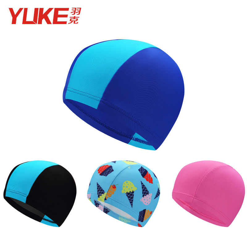 CHILDREN'S Swimming Cap Boy Cartoon Swimming Cloth Cap Big Boy Baby GIRL'S Hat BOY'S Girls Swimming Equipment