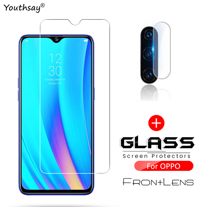 2PCS For OPPO Realme 5 Glass Screen Protector Tempered Glass For Realme 6 Pro X50 XT X2 5i Glass For Realme 5 Phone Film 1
