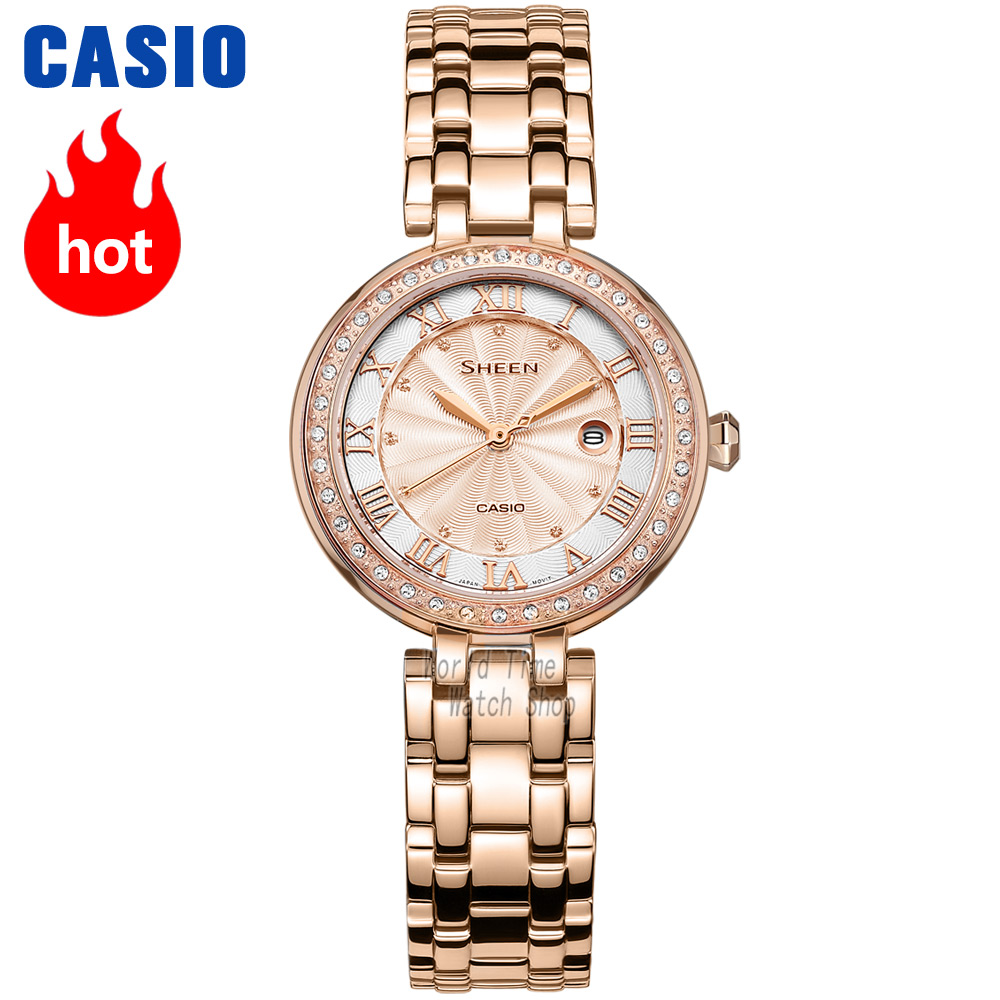 Casio Watch Swarovski Crystal Women Watches Top Brand Luxury Set Ladies Watch Women 50mWaterproof Quartz Sport Clock Reloj Mujer