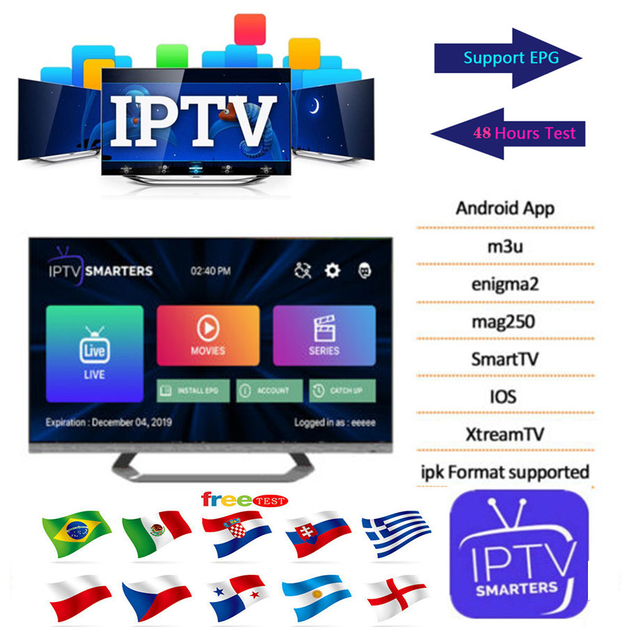 Europe IPTV Subscription 1 Year Canada French Portugal UK USA German Arabic Dutch Sweden French Poland IP TV Smart TV M3U PC VLC