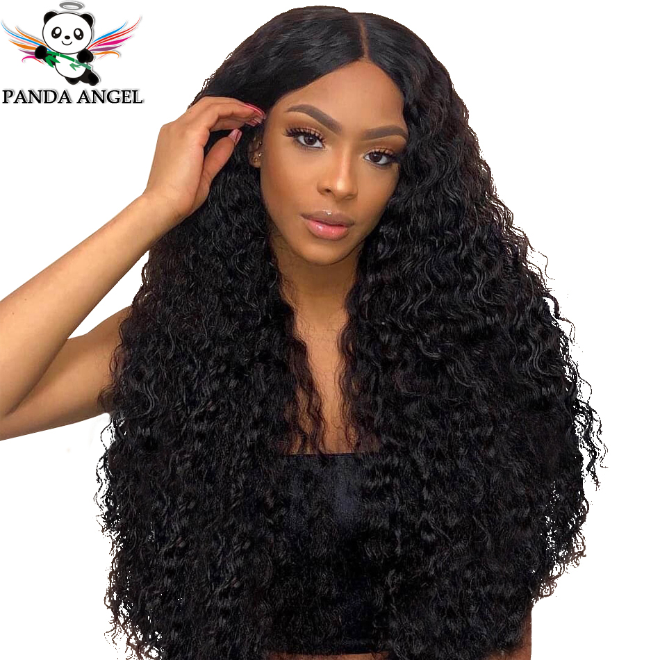 Panda 13x4 Kinky Curly Lace Front Human Hair Wigs 150% Density Brazilian 13x6 Lace Front Human Hair Wigs For Black Women Remy