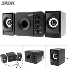 SADA D-205, новинка, полный спектр, 3D стерео сабвуфер, басов, ПК, динамик, портативный, музыка, DJ, USB, компьютерные колонки для ноутбука, телевизора