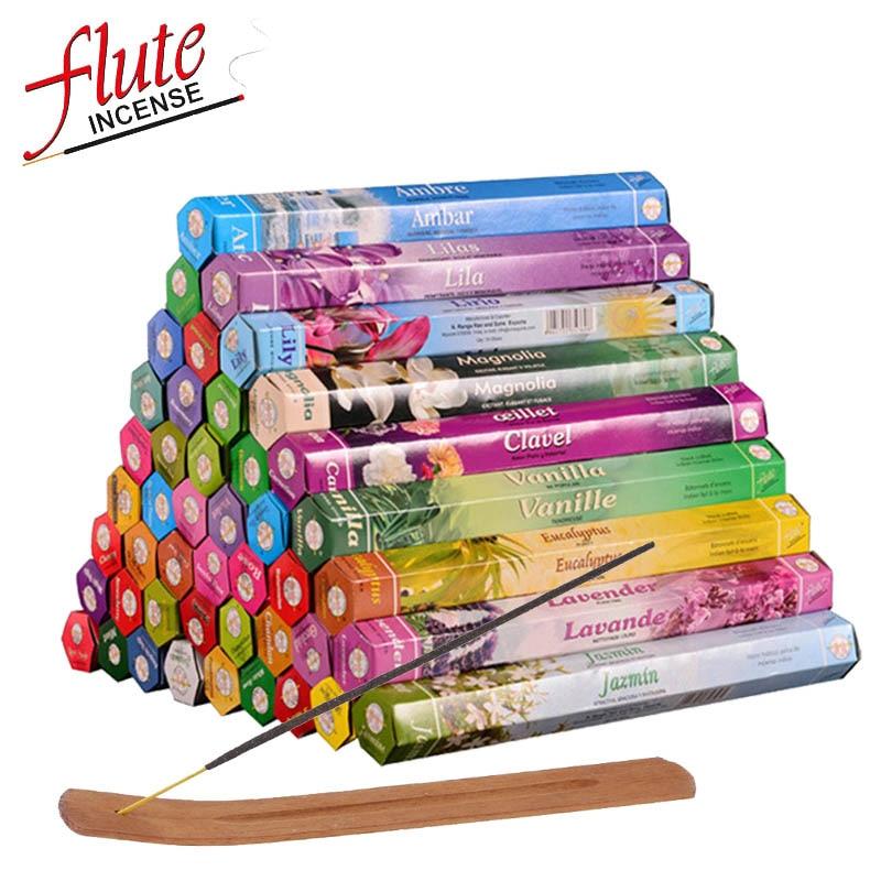 FLUTE 20 Sticks/Box Multi-Style Indian Incense Stick Smoke Stick Natural Environment Aromatizer Lavande Sage Smudge Sticks(China)