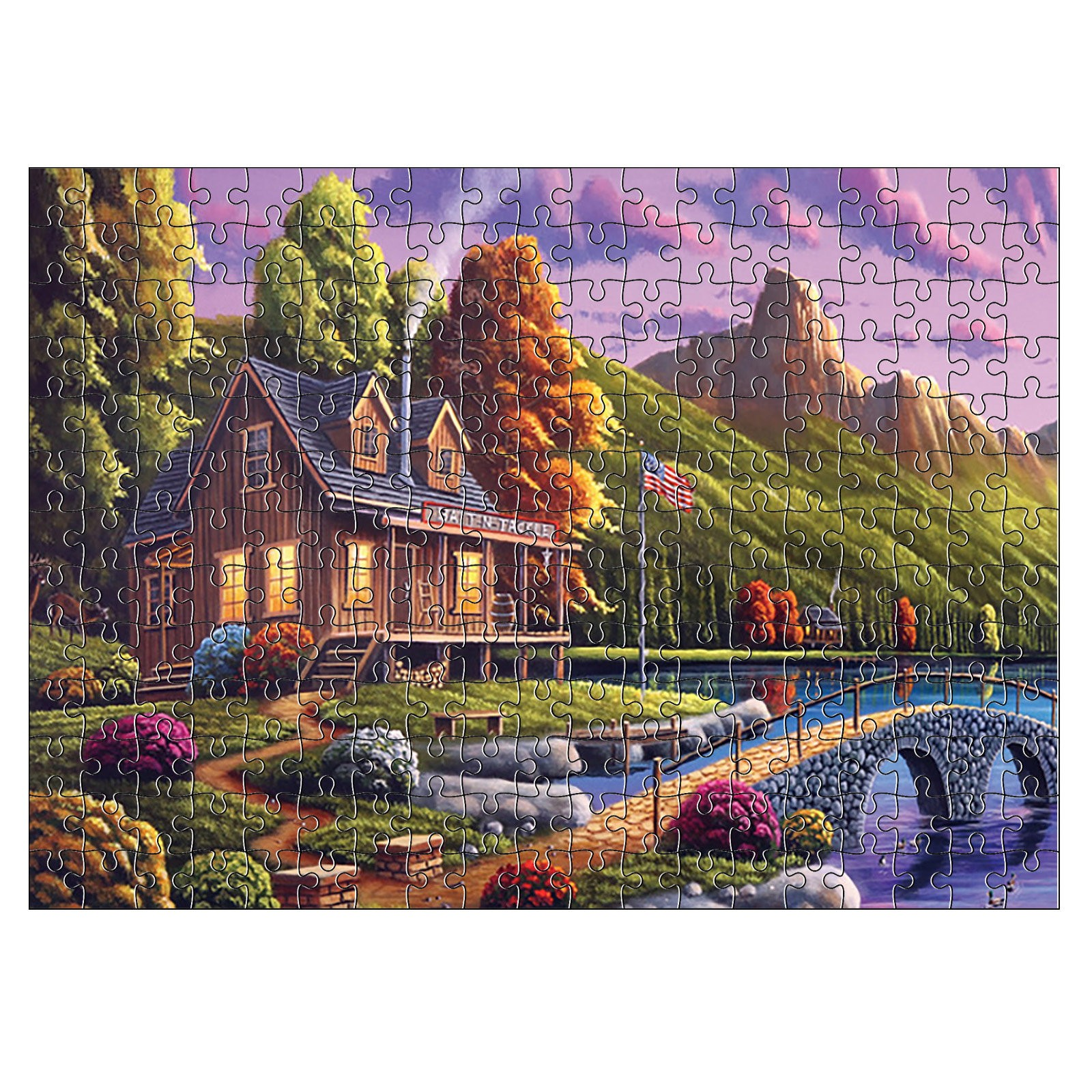 1000 Pieces Jigsaw Puzzle Children's Adult Wooden Puzzle Intelligence Educational Game Toys kids Jigsaw Puzzle toys Stickers 9