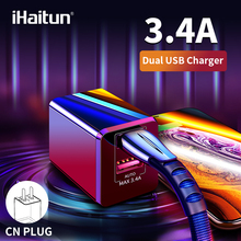 iHaitun 5V 3.4A USB Charger Mini Travel Dual Port Fast Charge Quick 3.0 For iPhone X XS Huawei P30 Xiaomi Redmi K20 Pro
