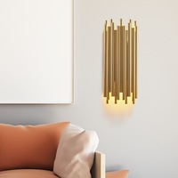 Modern Gold Wall Lamp Led Nordic Mirror Wall Light Fixtures Glass Sconce for Living Room Bedroom Home Loft Industrial Decor E27