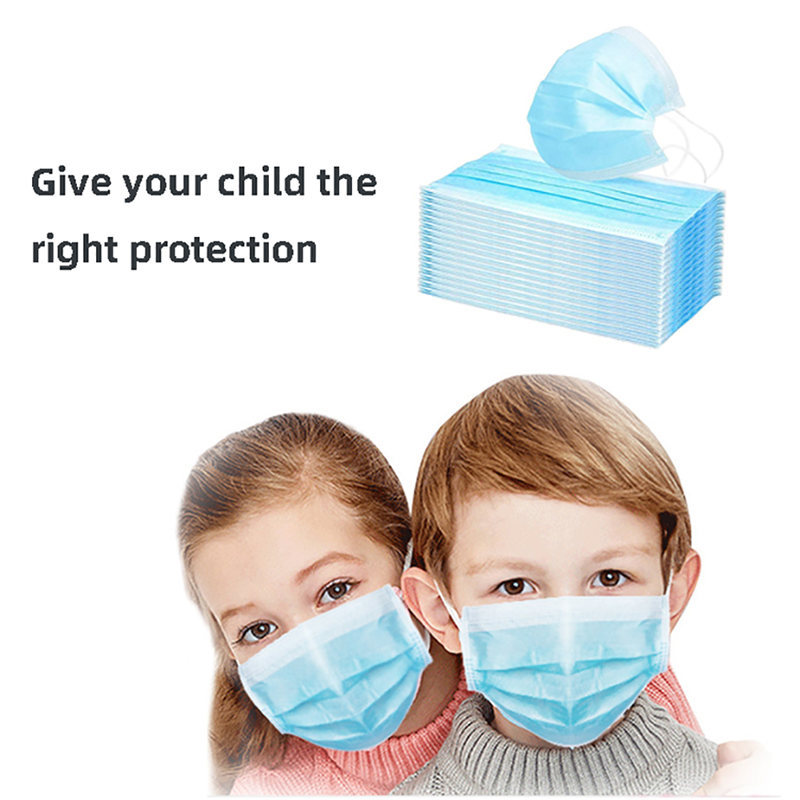 1PC 3 Layers Children Mask Dustproof Facial Protective Cover Masks Anti-Dust Anti-Fog Anti-spit Face Mouth Masks For Kids