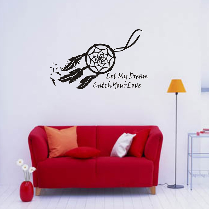 Wall Decor Wall Stickers for Living Room Sticker Bedroom Wall Stickers Wall Decals Appliques Dream Love Wallpaper DIY