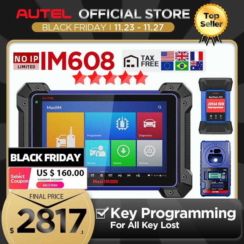 Autel MaxiIM IM608 diagnostic tool IMMO XP400 key programming Bi Directional obd2 scanner J2534 ECU programming (No IP Limited)|Engine Analyzer| - AliExpress