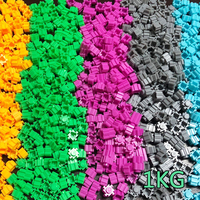 1KG 8mm Diamond Building Blocks 31 colori DIY 3D piccolo mattone per bambini figure personaggio giocattolo educativo regali per bambini