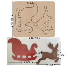 New Christmas, snowmobiles Wooden die Scrapbooking C 1095  Cutting Dies Multiple sizes