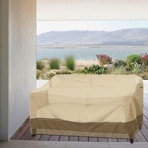 AFBC cubierta de sofá al aire libre a prueba de polvo impermeable silla toldo protector solar impermeable balcón jardín Muebles cubierta de polvo