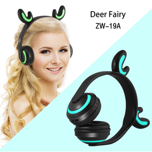 Image 5 - LED light Cat Ears Noise Cancelling Headphones Bluetooth  Kids  Headset Support TF Card 3.5mm Plug for Phones With Microphone