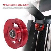 Rueda de aluminio Universal para la polea del cojinete, pieza de equipo de elevación para entrenamientos deportivos, 1 unidad