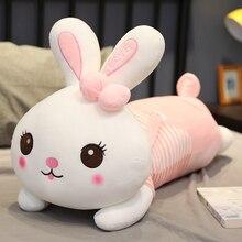 Милая мягкая плюшевая игрушка кролик с большими ушами 70/90 см, длинная подушка для сна, подарок для девочек, подарок для детей, подарок на день рождения, куклы