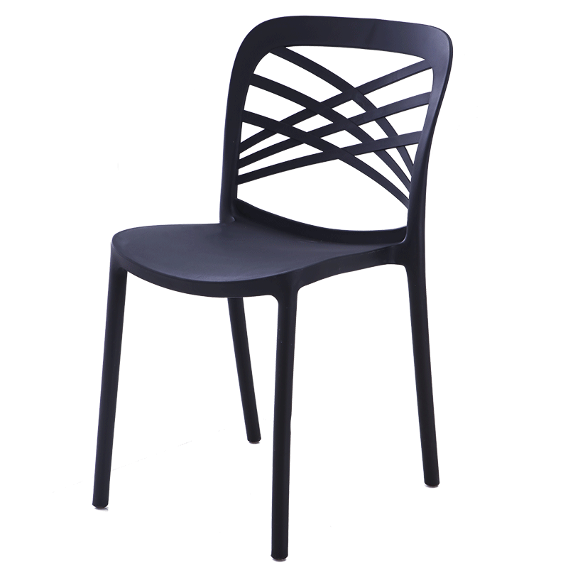 Simple Chair Plastic Household Leisure Back Makeup Chair Adult With Armrest Restaurant Nordic Outdoor Dining Chair Thickened