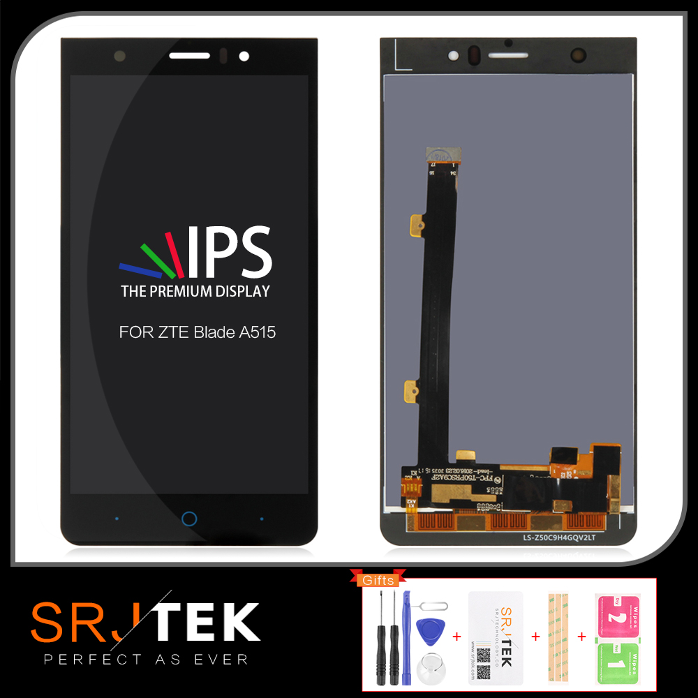 SRJTEK LCD For ZTE Blade A515 Display Screen for ZTE A511 A515 A513 LCD Touch Digitzer Glass Sensor Matrix Assembly Replacement Tablet LCDs & Panels     - title=